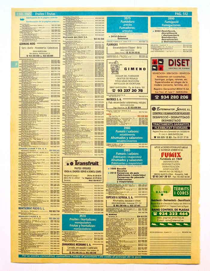 los antecesores del SEM son los anuncios páginas amarillas